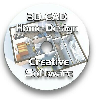 3d Cad Home Design Kitchen Bathroom Software Disc Cd • 3.99£