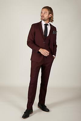 $ CDN313.92 • Buy Marc Darcy Mens Wine Three Piece Suit With Single Breasted Waistcoat
