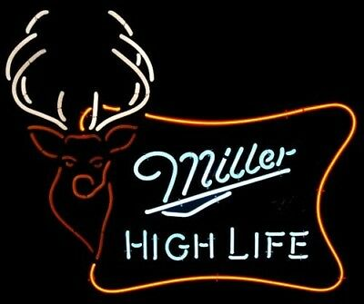 $138 • Buy Miller High Life Neon Signs Beer Bar Pub Party Store Room Decor For Gift 19x15