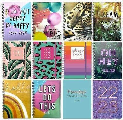 £3.99 • Buy 2021 - 2022 A5 Academic Diary Mid Year Week To View Student Hardback Spiral