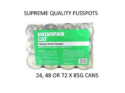 24 X 85g Breederpack Cat Supreme Quality Fusspots Gourmet Tinned Cat Food Meat • 10.99£