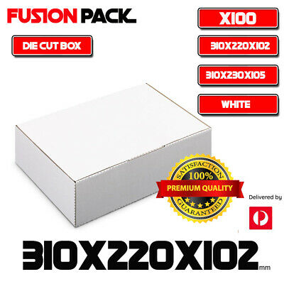 AU85.99 • Buy 100 X Mailing Box 310x220x102mm Diecut Carton 310x230x105mm * A4 BM BX2 Size AU
