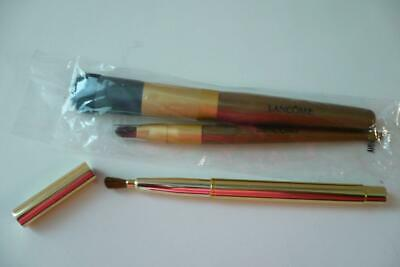 £10.20 • Buy 2 Lancome Cosmetic Makeup Brushes & 1 Goldtone Retractable Brush New Old Stock