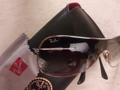 95aab4282 Authentic Ray Ban Sunglasses Rb 3211 003/8g Small Black/gray • 140.00$