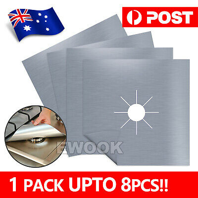 AU9.90 • Buy Reusable Non-stick Foil Gas Range Stove Top Burner Protector Liner Cover 8PCS