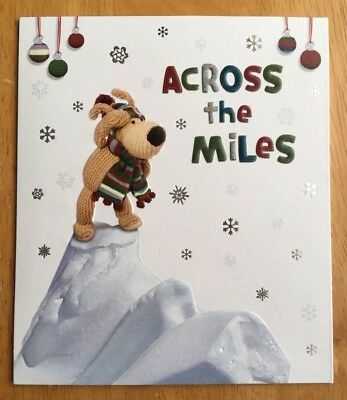 £2 • Buy 'Across The Miles' Boofle General Christmas Card - 6.25 X5.25  - Clintons