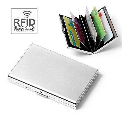 AU5.25 • Buy RFID Blocking Wallet ID Credit Business Card Holder Anti Stainless Steel Case