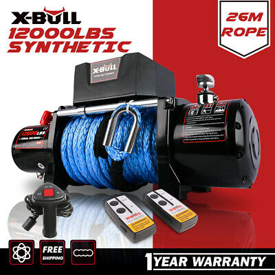 AU489 • Buy X-BULL Electric Winch 14500LBS 12V Synthetic Rope 26m Wireless Remote 4WD 4x4