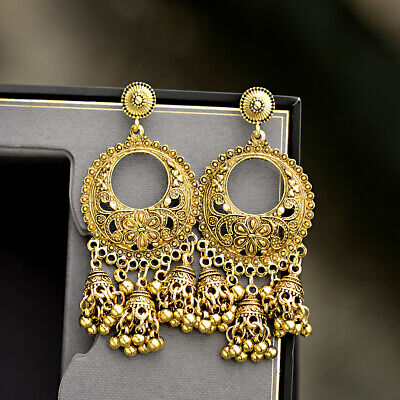 AU3.67 • Buy Vintage Women Boho Tassel Bells Drop Egypt Gypsy Indian Jhumka Ethnic Earrings