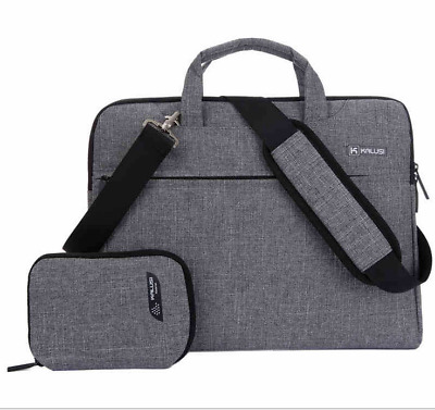 $ CDN30.10 • Buy Gray Canvas Messenger Bag For Dell Alienware / Inspiron 17 / HP 17.3 Laptop