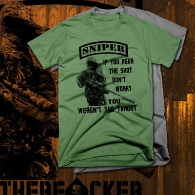 4a37ed4bc Sniper T-shirt Army Marines Special Forces Infantry Navy Seals Military New  Tee • 19.50