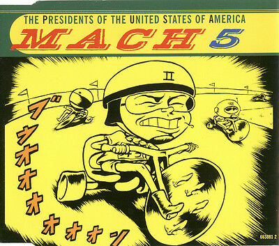 The Presidents Of The United States Of America ‎– Mach 5 - UK CD Single • 1.99£