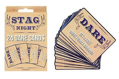 £1.99 • Buy 24 X Stag Do Dare Cards Game Boys Night Out Guys Stag Party Accessories Funny