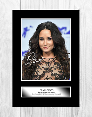 £6.95 • Buy Demi Lovato (4) Reproduction Signed A4 Poster Print With Choice Of Frame.