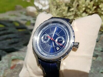 Filippo Loreti Milano Deep Blue Automatic Limited Edition 26 Jewel Watch W/Paper • 248£