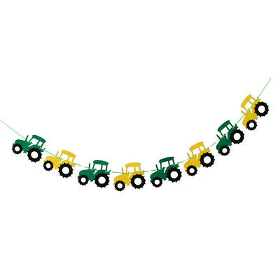 AU7.99 • Buy Tractor Garland Banner Tractor/Farm Kids Birthday Party Supplies Decorations