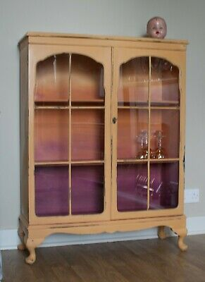 Hand Painted Annie Sloan Ombre Effect Bookcase Display Drinks Cabinet • 159£