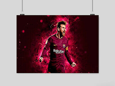 £6.95 • Buy Lionel Messi Poster Soccer Football The Goat God Barca Fc Barcelona A4 A3 Size