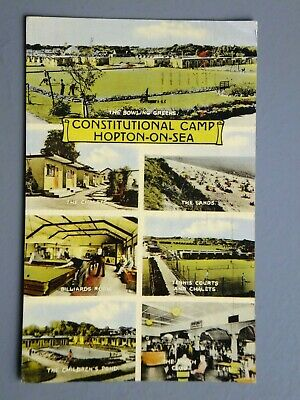 R&L Postcard: Hopton-on-Sea Constitutional Camp, Chalets/Billiards Room, Friths • 6.99£