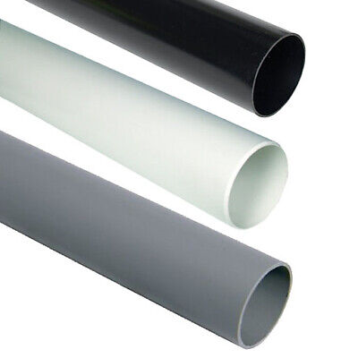 110mm Underground 3m Length Drainage Pipe | Black Soil Pipe | Push Fit Waste ABS • 19.95£