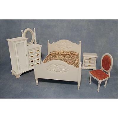 £18.95 • Buy Dolls House 12th Scale White Bedroom Set DF1537