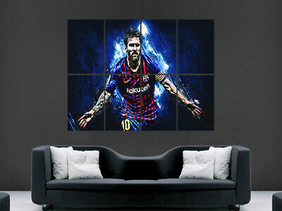 Lionel Messi Poster Print Fc Barcelona The Goat Football Art Large • 17.99£