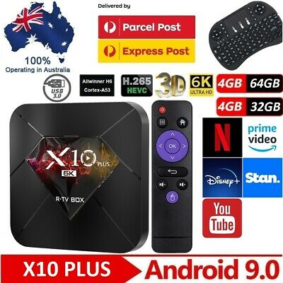 AU99 • Buy 2020 MX10 PRO Smart Android TV BOX 6K For Netflix Prime Video Disney MXQ Pro