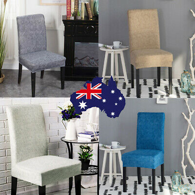 AU37.99 • Buy 4/6/8pcs Dining Chair Covers Stretch Cover Protector Slipcover Washable Cotton