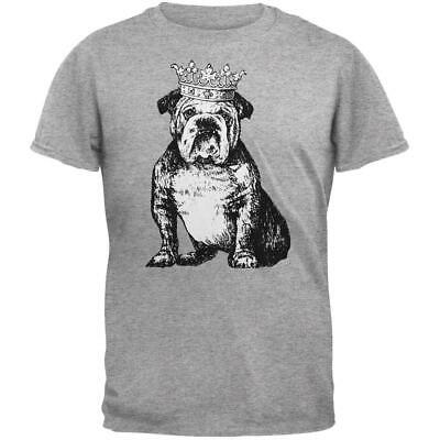 $13.77 • Buy Bulldog Crown Heather Grey Adult T-Shirt