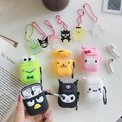 $ CDN6.26 • Buy For AirPods Case Cinnamoroll Melody Kuromi Purin Earphone Cover & Strap Pendant