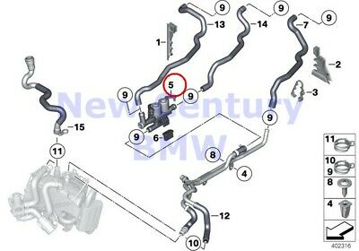$214.34 • Buy BMW Genuine Coolant Hoses For Auxiliary Heater Cooling Water Hoses Water Valve F