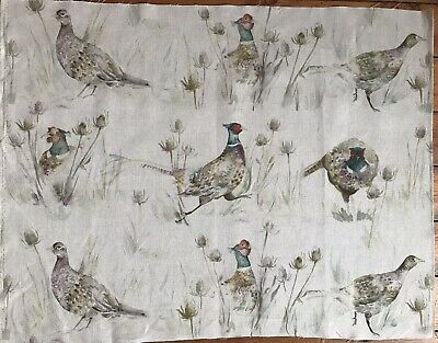 "Voyage Fabric Linen/Cotton  Bowmore Pheasants"" Remnant 66cm Widex53cm Long (53) • 7.95£"
