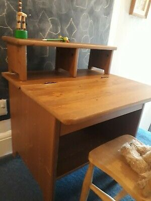 Child's Desk And Chair Wooden Ikea • 50£
