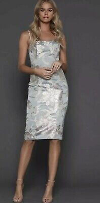 AU99 • Buy New With Tags BNWT Elle Zeitoune Dress Delta Champagne Green 8 / 6 Jade Floral