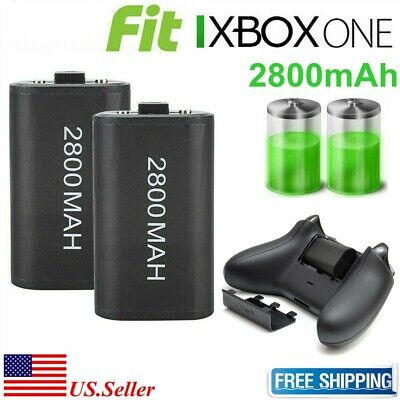 $14.95 • Buy 2x 2800mAh Rechargeable Battery With Charging Cbale For XBOX ONE Controller New
