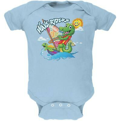 £12 • Buy Gator And Turtle Wave Riders Soft Baby One Piece