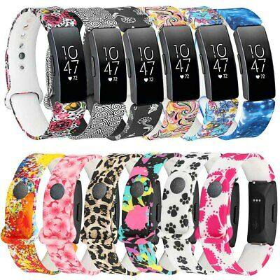 AU10.99 • Buy AU Silicone Wrist Band For Fitbit Inspire HR / Inspire Smart Watch Printed Strap