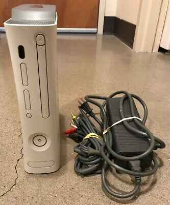 Microsoft Xbox 360 Video Game Console For Parts Or Repair Broken Disc Tray 20 GB • 13$