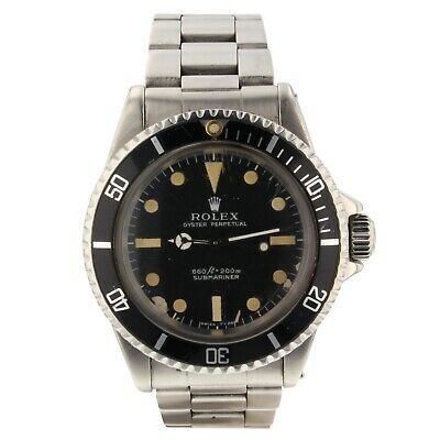 $ CDN15557.63 • Buy Rolex Submariner Steel 40 Mm Black Dial 5513 Automatic Mens Collectible Watch