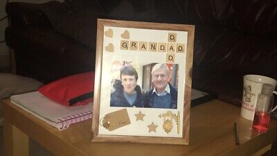 Personalised Family Children Love Birthday Name Scrabble Picture Box Frame • 10£
