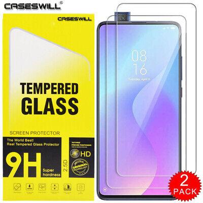 $3.59 • Buy For Xiaomi Mi 9T / 9T Pro Caseswill HD Tempered Glass Screen Protector [2-PACK]