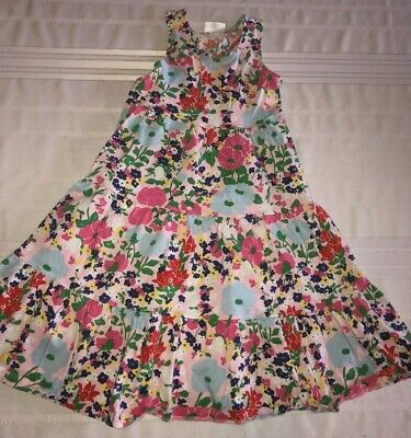 07c6744d8d90 Hanna Andersson Girls Sleeveless Multicolored Floral Twirl Dress Size 130  7-8 • 7.26$