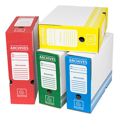 Large A4 Transfer Storage File Boxes Paper Paperwork Archive Folders Box Files • 6.99£