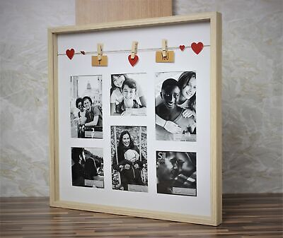 Wooden I Love You Multi Picture Photo Set Frame Wall Collage Gift Home • 9.95£