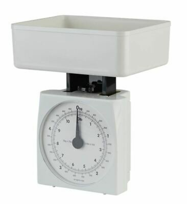 Hanson Kitchen Scale Mechanical Dial White Compact 1.25L Bowl Cook Bake 3kg Max • 10.89£