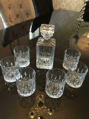 Royal Doulton Seasons Crystal 7 Piece Decanter Set With 6 Tumblers Glasses • 76.95£