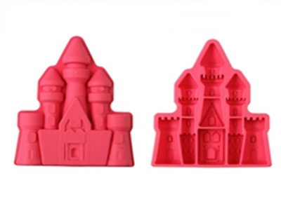 Sand Castle Mould Fairytale Hill House Silicone Ice Cube Tray Cake Chocolate • 5.25£