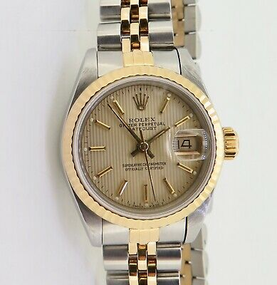 AU5990 • Buy .Vintage 1990 Rolex Datejust Ladies Steel & Gold Wrist 69173 Watch Box+Serviced