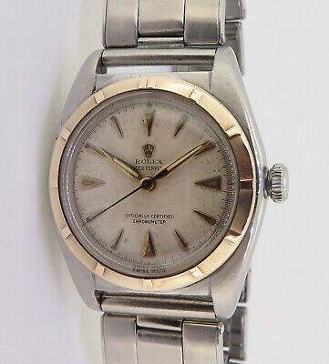 $ CDN6019.64 • Buy .Vintage Rolex Oyster Bubble Back Steel & 14K Gold Automatic Watch Ref 5011