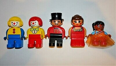 $ CDN15.86 • Buy Lego Duplo Circus Figures~Ringmaster, Clowns, Fat Lady & Tightrope Walker